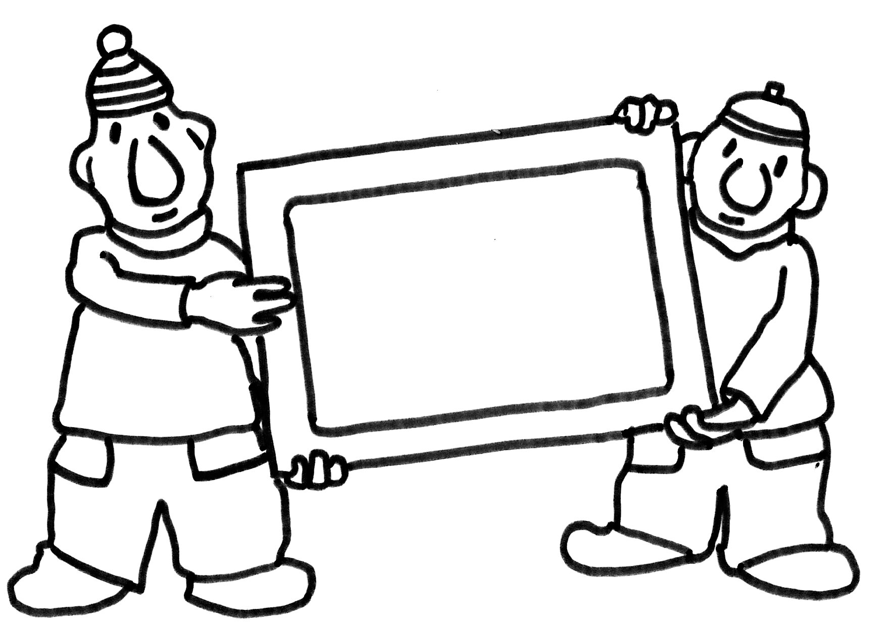 Verhuizen Kleurplaat Kleurplaat Buurman En Buurman Met Schilderij Kleurplaatje Nl