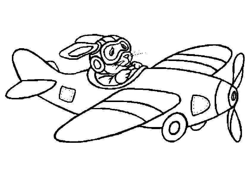 Kleurplaat vliegtuig