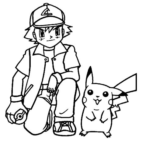 Pokemon kleurplaat