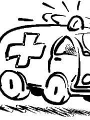 ziekenwagen kleurplaat