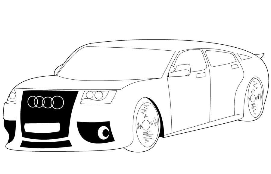 Cars Kleurplaat A4 Formaat Audi Kleurplaat Kleurplaat Kleurplaatje Nl