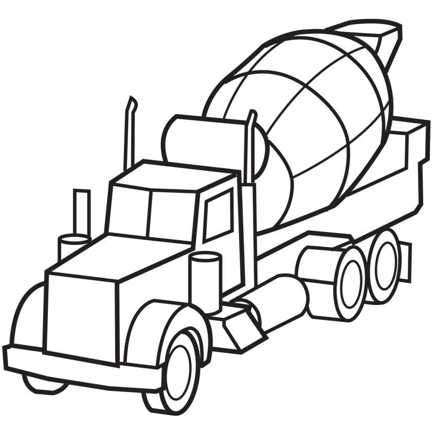 kleurplaat betonwagen