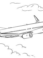 kleurplaat vliegtuig boeing 737