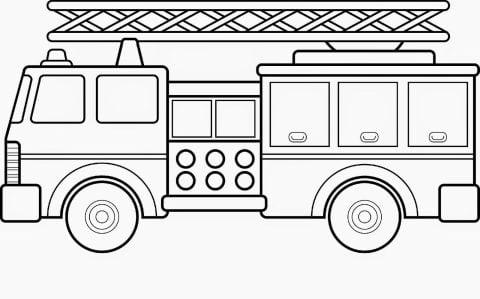 brandweerauto kleurplaat
