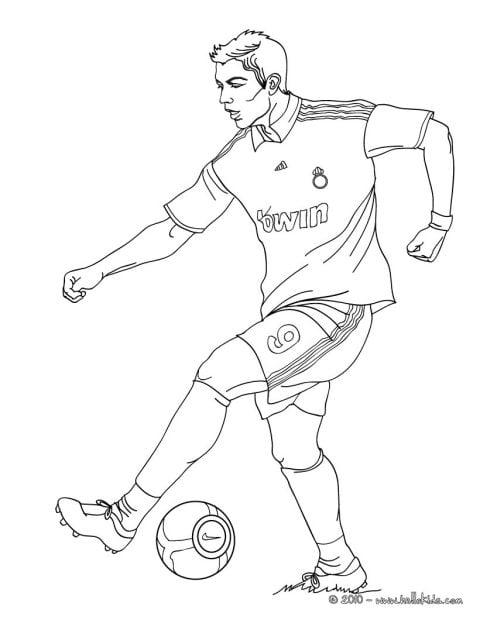 christiano ronaldo voetbal kleurplaat