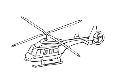 helikopter kleurplaat