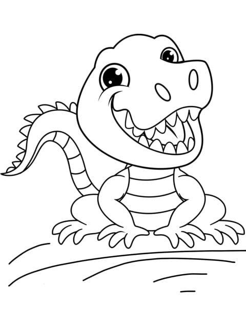 kleurplaat krokodil
