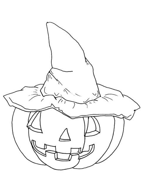 kleurplaat halloween pompoen