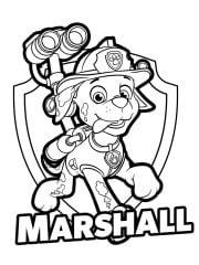 kleurplaat marshall uit paw patrol