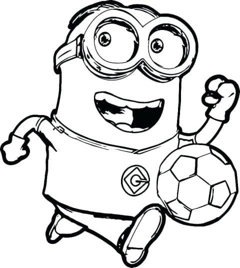minion voetbal kleurplaat
