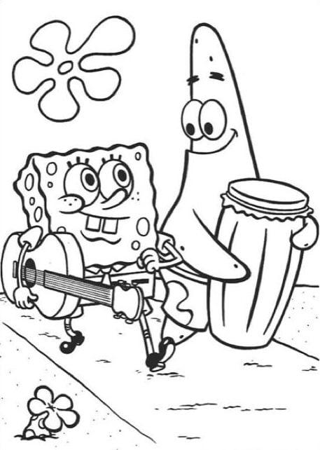 spongebob kleurplaat