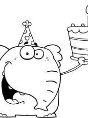 kleurplaat verjaardag